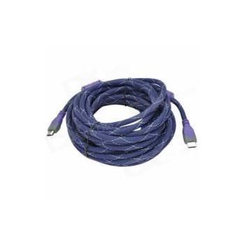 Kabell HDMI 5M 30AWG Dual Color Nylon 24AWG