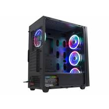 Rampage ALPHA-X 4 * 12cm Rainbow Fan 600W 80 Plus Bronze RGB Led Strip 1 * Usb 3.0 2 * Usb 2.0 GAMING Case